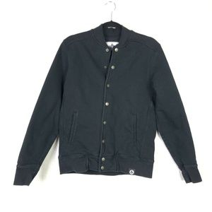 American Giant Black Snap Front Bomber Jacket S